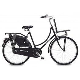 Hollandrad - ZONIX - 26 Zoll - schwarz - Holland Damenrad Omafahrrad Fahrrad Nostalgie -
