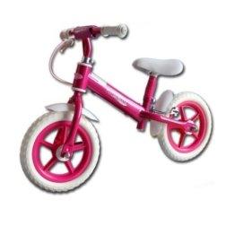 Kinder Laufrad 12 Zoll EVA Reifen Lernlaufrad Roller Kinderrad mit Schutzblech rosa -