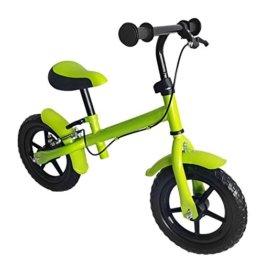 Kinder Laufrad, mit Handbremse, Räder ca. 30,3 cm (12 Zoll), apfelgrün grün, Lernlaufrad, Lauflernhilfe, Roller für Kinder ab 2 Jahren -