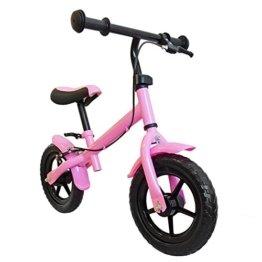 Kinder Laufrad, mit Handbremse, Räder ca. 30,3cm (12 Zoll), Farbe pink, mitwachsendes Lernlaufrad, Lauflernhilfe, Roller für Kinder ab 2 Jahren -