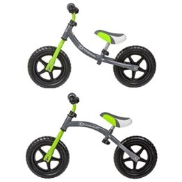 Kinderkraft 2Way Laufrad Lernlaufrad mit verstellbarem Rahmen Grau-Grün -