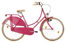 KS Cycling Damen Fahrrad Hollandrad Tussaud singlespeed RH 54 cm, pink, 28 Zoll, 335H -