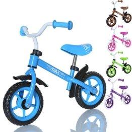 LCP Kids TRAX Kinder Laufrad als Lern Fahrrad ab 2 Jahren - 10 Zoll, Farbe Blau -