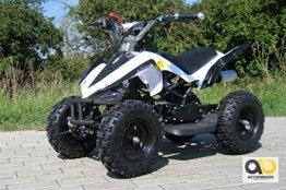 Mini Kinder ATV 49 cc Racer Pocketquad 2-takt Quad (weiß / schwarz) -