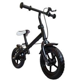"""mitwachsendes Kinder Laufrad, mit Handbremse, Räder 12"""", Farbe schwarz, Lernlaufrad, Lauflernhilfe, Roller für Kinder ab 2 Jahren -"""