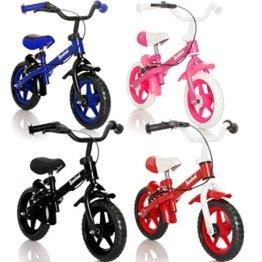 WHEELY Laufrad Kinderrad (MIT BREMSEN) / Fahrrad / Lernlaufrad in 3 verschiedene Farben (Rot) -