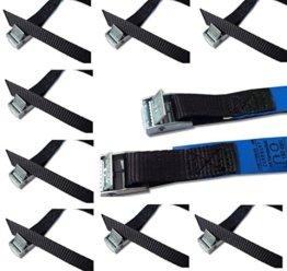 Befestigungsriemen-Set ideal zur Befestigung am Fahrradträger , Klemschloss Gurte , Spanngurte , iapyx® (10er Set, schwarz) -