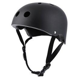 OUTAD Fahrradhelm Skate Helm Fahrrad Schutzhelm Helm Sicherheitshelm (L, Schwarz) -