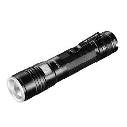 povkeever LED Taschenlampe USB wiederaufladbar Taschenlampe, 900Lumen CREE XPE2R5Taschenlampe mit 5Schalter Modus -