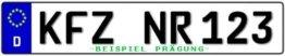 Standard PKW EU Kennzeichen 520x110mm -
