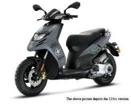 Piaggio TPH 50 inkl. Topcase, Farben:Grigio Titanio 742/B -